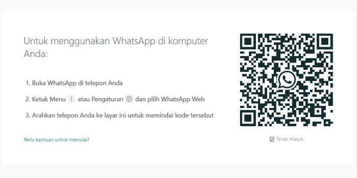 cara menggunakan whatsapp web di laptop pc