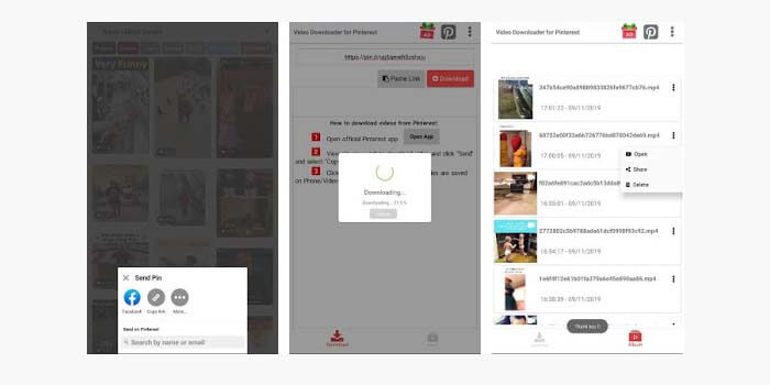 cara simpan video pinterest
