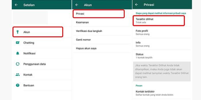 Cara Mematikan Last Seen WhatsApp di Android