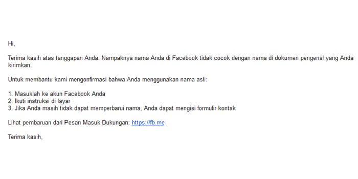 Cara Mengaktifkan FB Kembali