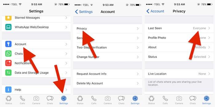 Cara Menghilangkan Last Seen WA di iPhone
