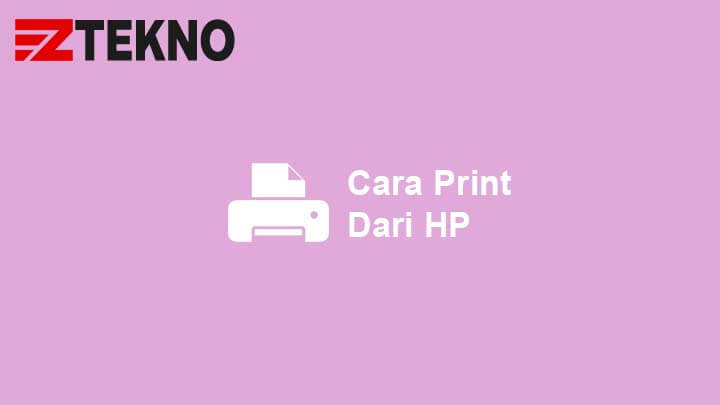 Cara Print dari HP