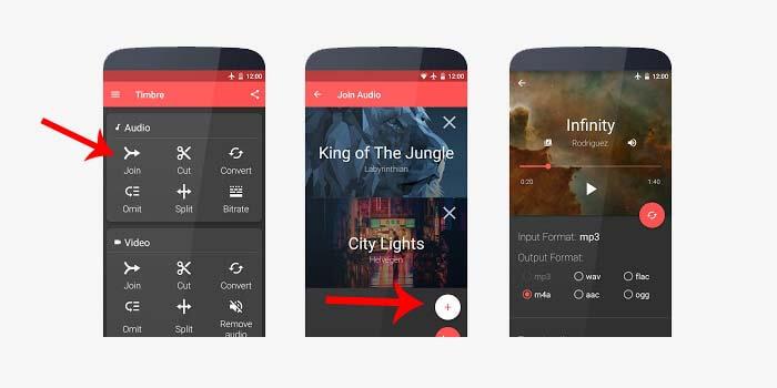 Cara menggabungkan lagu di HP Android