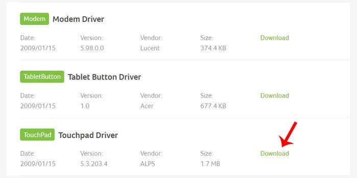 Instal Ulang Driver Touchpad