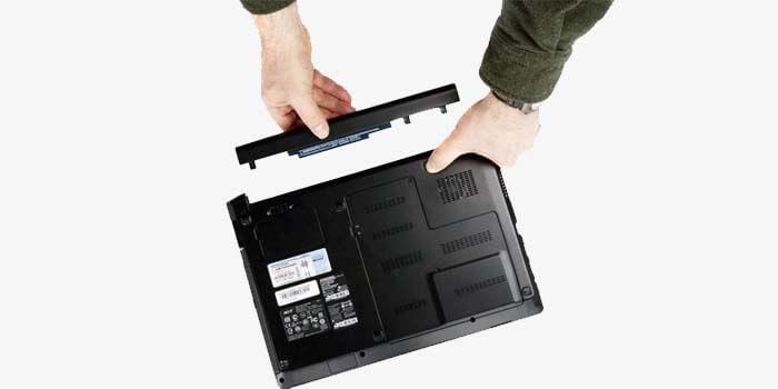 Lepas Baterai Laptop