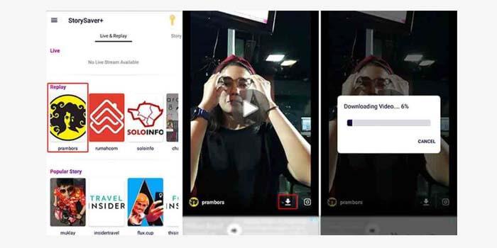 cara download video live instagram orang lain