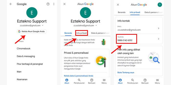 3 Cara Mengganti Nomor Hp Gmail Terbaru Ampuh
