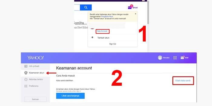 cara ganti password email yahoo lewat laptop