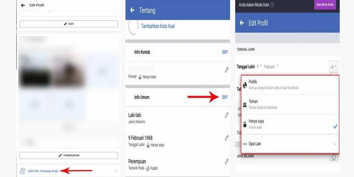 cara mematikan pemberitahuan ulang tahun kita di facebook