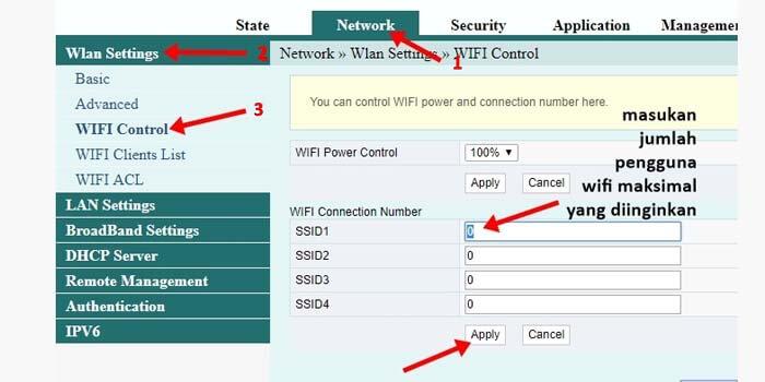 cara membatasi pengguna wifi fiberhome