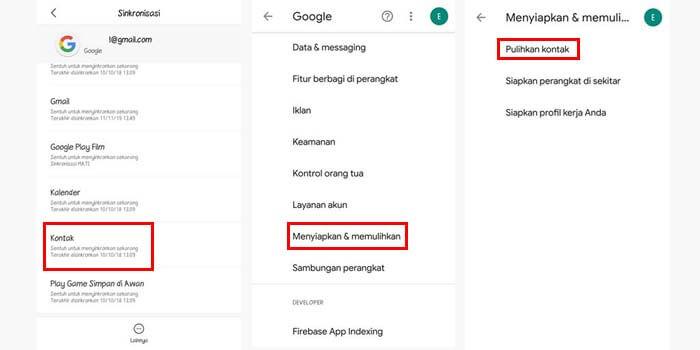 cara memindahkan kontak ke akun gmail google