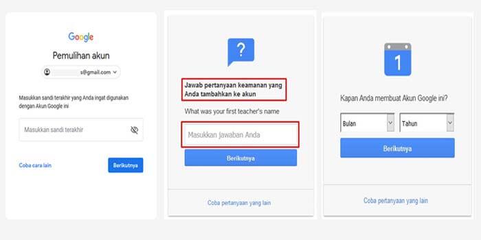 cara memulihkan gmail sendiri yang lupa kata sandi