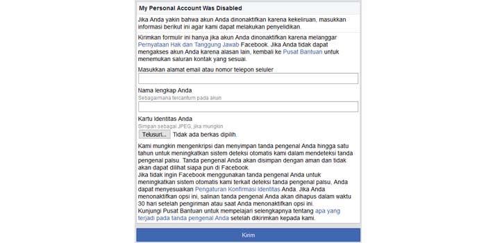 √ 2 Cara Mengembalikan Akun Facebook yang Dinonaktifkan Work!