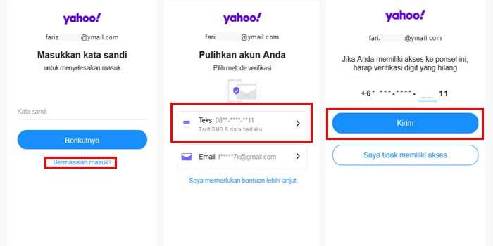 cara mengembalikan email yahoo yang lupa password