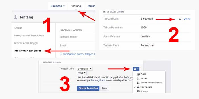 cara menyembunyikan pemberitahuan ulang tahun sendiri di facebook