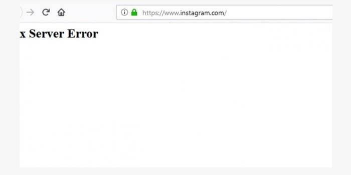 instagram error down server