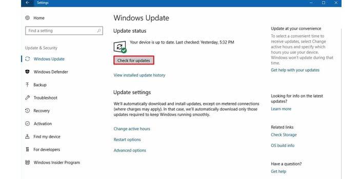 menggunakan windows update