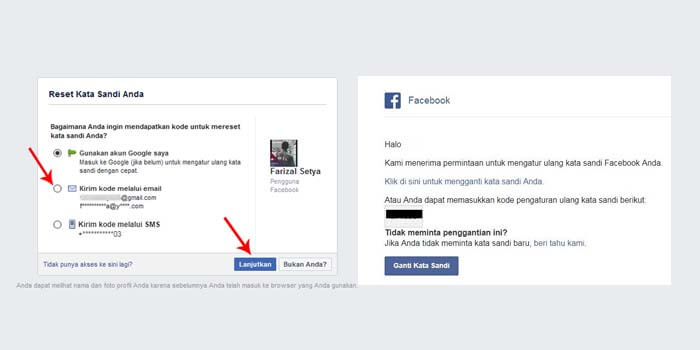 cara mengatasi akun facebook lupa kata sandi