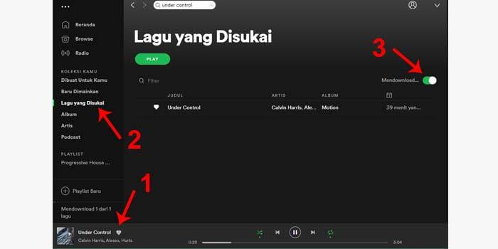 cara download lagu di spotify lewat pc