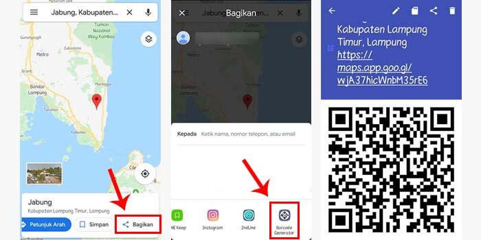 cara membuat barcode lokasi di android