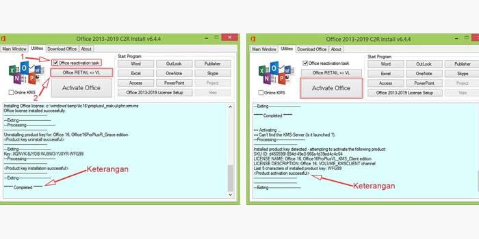 cara mengaktifkan ms office 2016