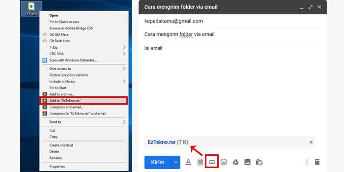 cara mengirim folder lewat email di laptop