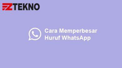 Cara Memperbesar Ukuran Huruf WhatsApp
