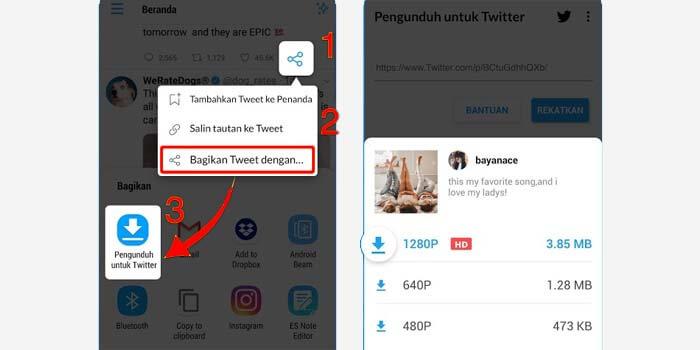 Download GIF dan video twitter
