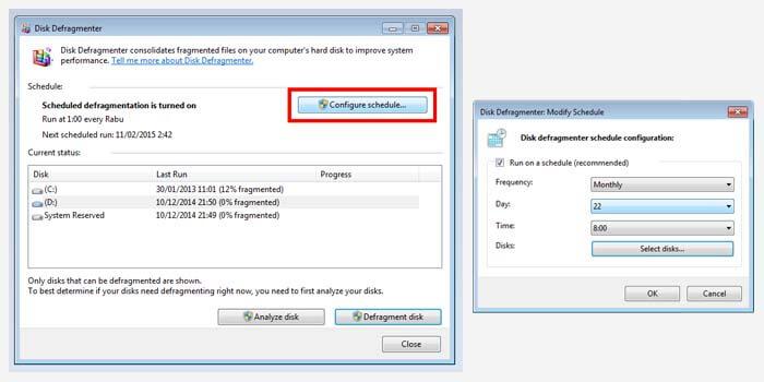 Menjadwalkan Defrag di Windows 7