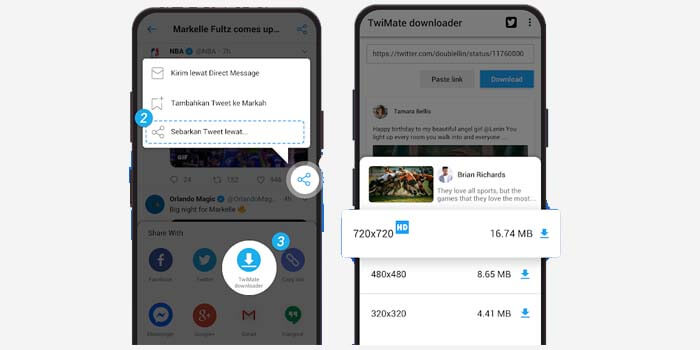 cara download video twitter di hp android iphone
