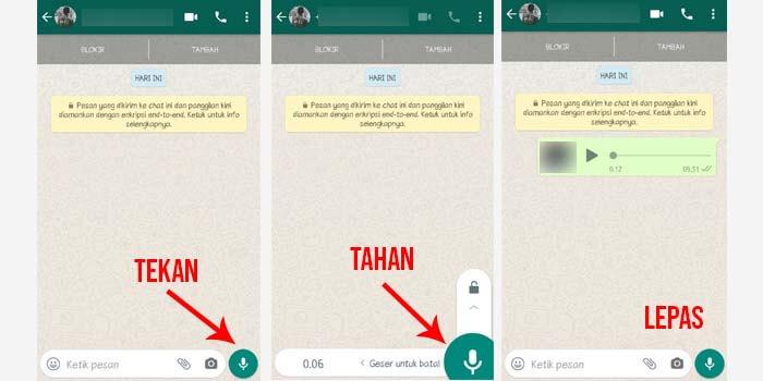 4 Cara Voice Note Whatsapp Kirim Menyimpan Memutar