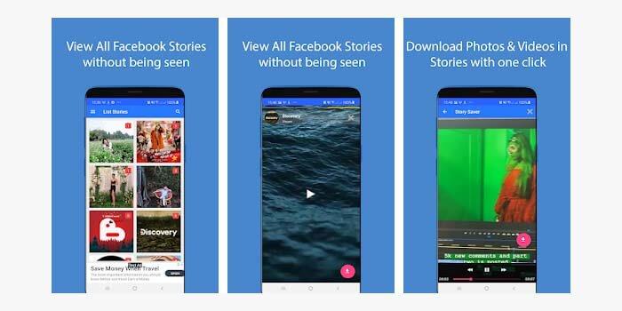 cara download story facebook di android