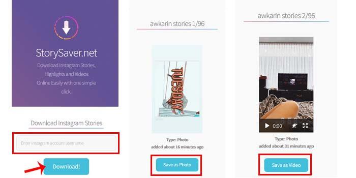 cara download story ig tanpa aplikasi