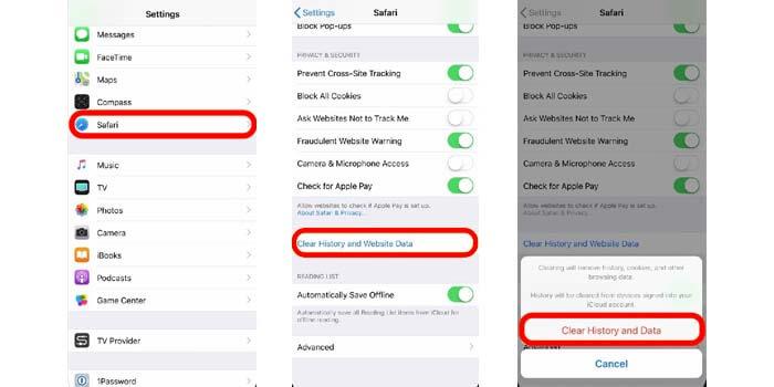 cara hapus cache aplikasi safari di iPhone