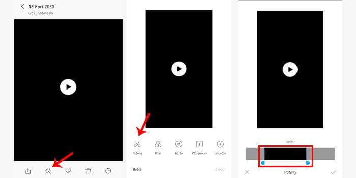 cara memotong video di hp tanpa aplikasi