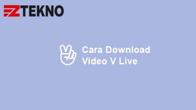 Cara Download Video V Live