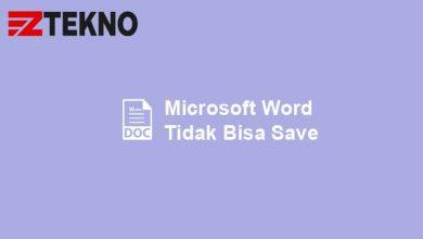 Microsoft Word Tidak Bisa Save