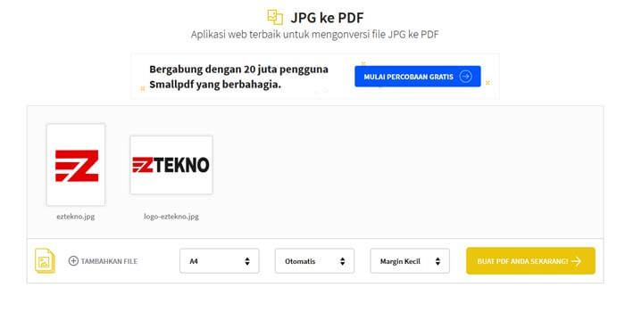 cara ubah jpg ke pdf