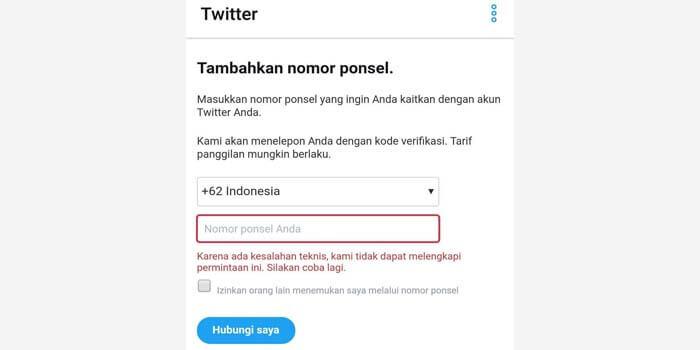 mengaktifkan akun twitter yang ditangguhkan