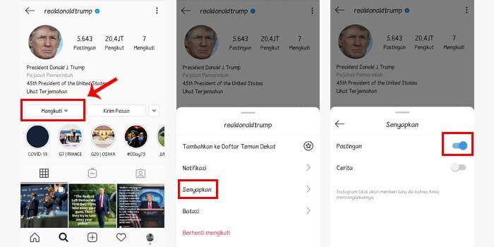 Cara Mute Postingan Instagram