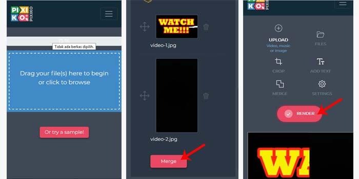 menyatukan video di laptop tanpa aplikasi