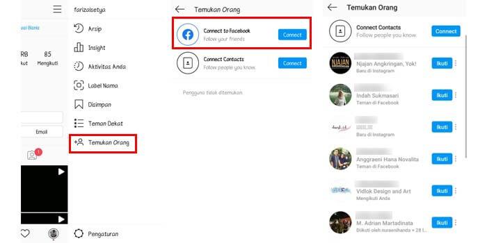 cara melacak akun instagram teman fb