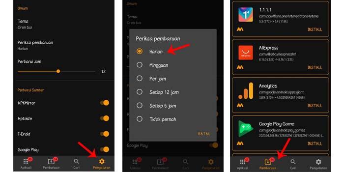 cara update aplikasi android tanpa play store