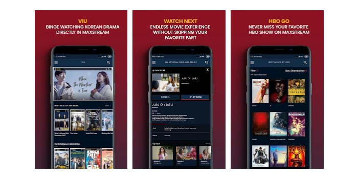 Aplikasi TV Online MAXstream