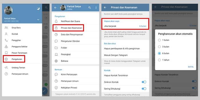 cara hapus akun telegram secara otomatis