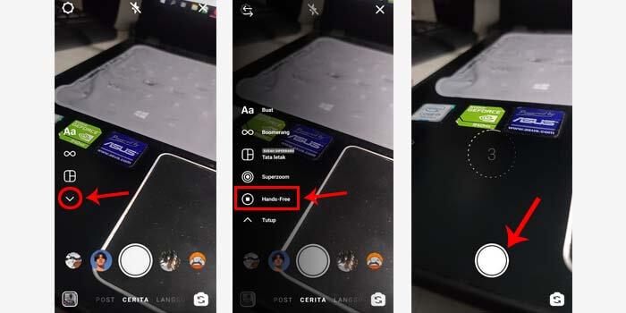cara membuat timer di kamera ig