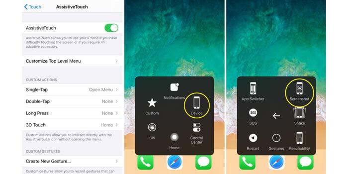cara screenshot iphone tanpa tombol