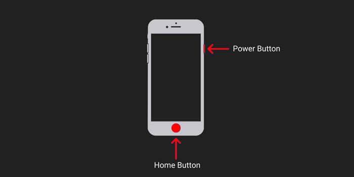 screenshot layar di iPhone