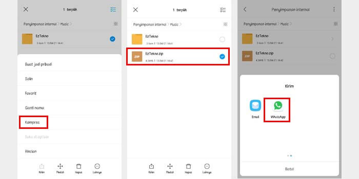 Cara Mengirim Folder Lewat WhatsApp Tanpa Aplikasi