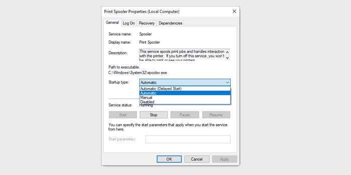 Restart Print Spooler